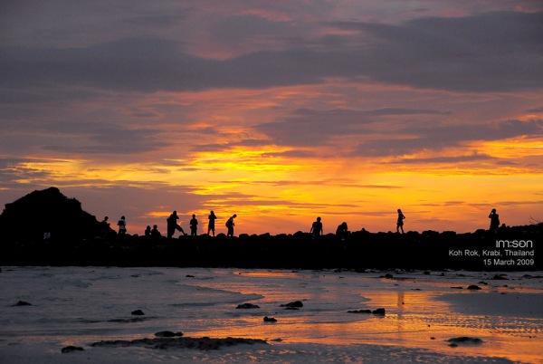 Sunset at Koh Rok อาทิตย์อัสดง