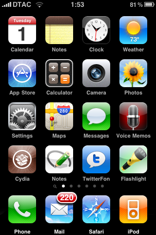 my iPhone 3G springboard