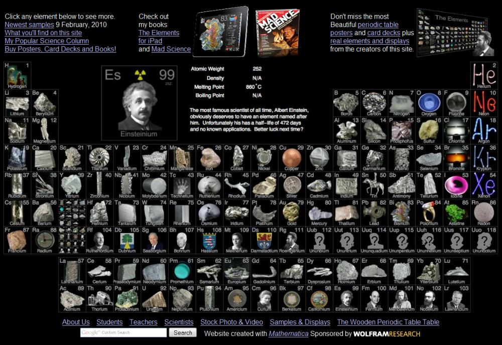 ตารางธาตุ สวยๆ ด้วยรูปถ่ายของจริง โดย ธีโอดอร์ เกรย์ (Theodore Gray: the Elements) (6/6)