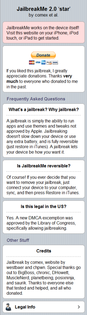 JailbreakMe 2.0 More info
