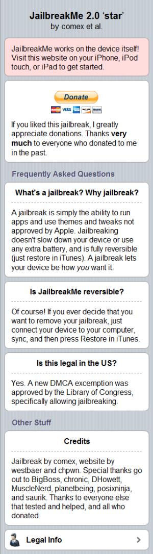 JailbreakMe 2.0 More info