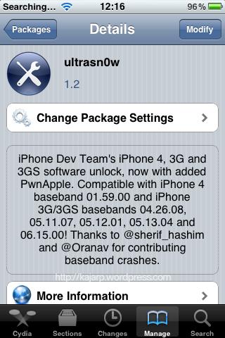 ปลดล็อค ไอโฟน 3G iOS 4.1 ด้วย UltraSn0w 1.2 (พย.53) ปลดล็อคนึงแต่ติดอีกล็อคนึง (unlock iPhone 3G/3GS iOS 4.1, 4.2.1) (3/6)