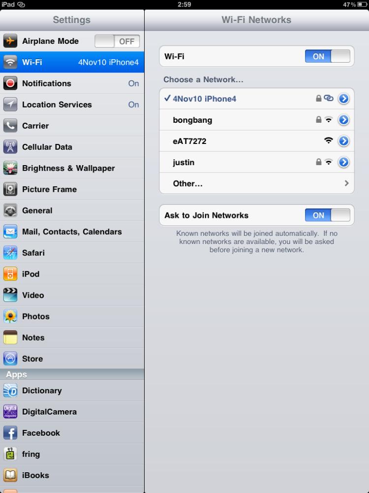 เซ็ท iPhone 4 เป็น Personal HotSpot เพื่อแชร์อินเตอร์เน็ตให้เครื่องอื่นได้ใช้ด้วย (iOS4.3) (4/6)