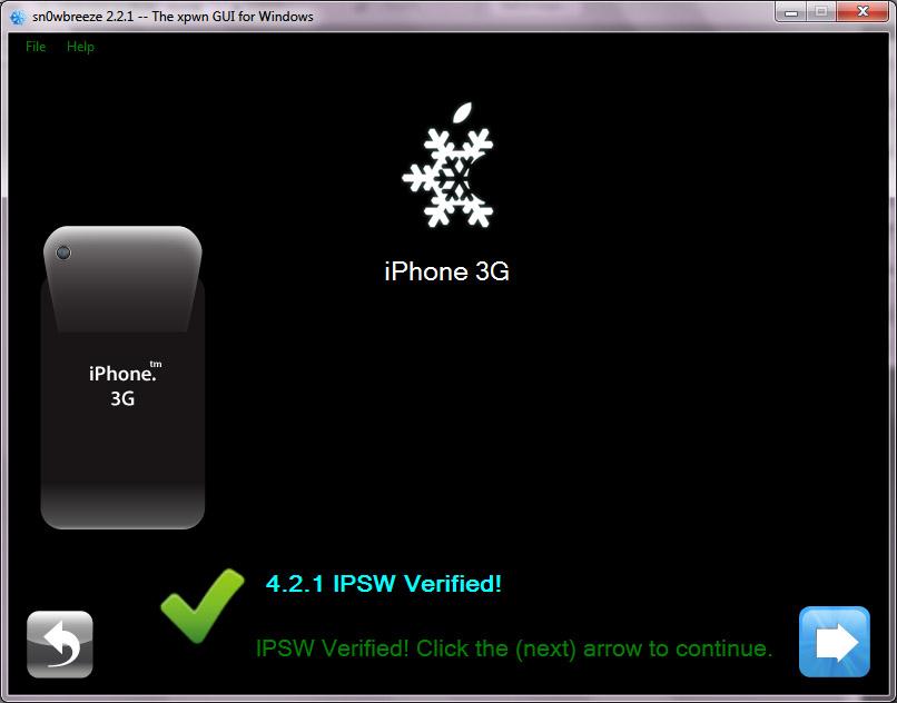 เจลเบรค iPhone 3G iOS 4.2.1 เบสแบนด์ 06.15 ด้วย Sn0wbreeze 2.2.1 (6/6)