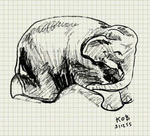 drawing ช้างดินเผา
