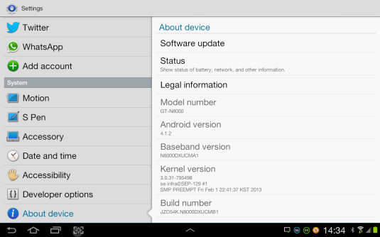android version 4.1.2