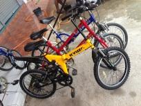 จักรยานพับสีเหลือง น่าสน