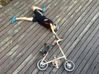 ถ่ายกับจักรยาน Strida
