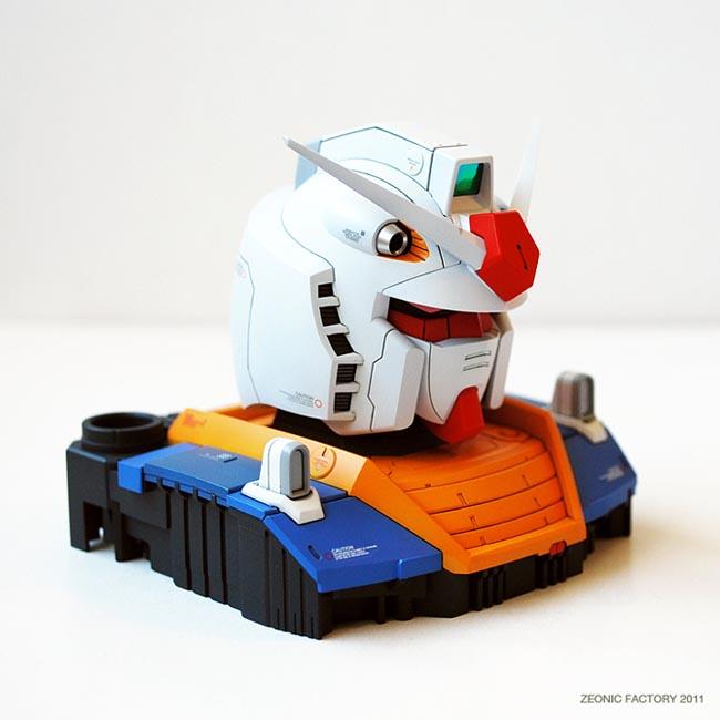 ที่มาของการออกแบบ หัวกันดั้ม หัวซากุ (Gundam's Head, Zaku's Head design inspiration) (4/6)